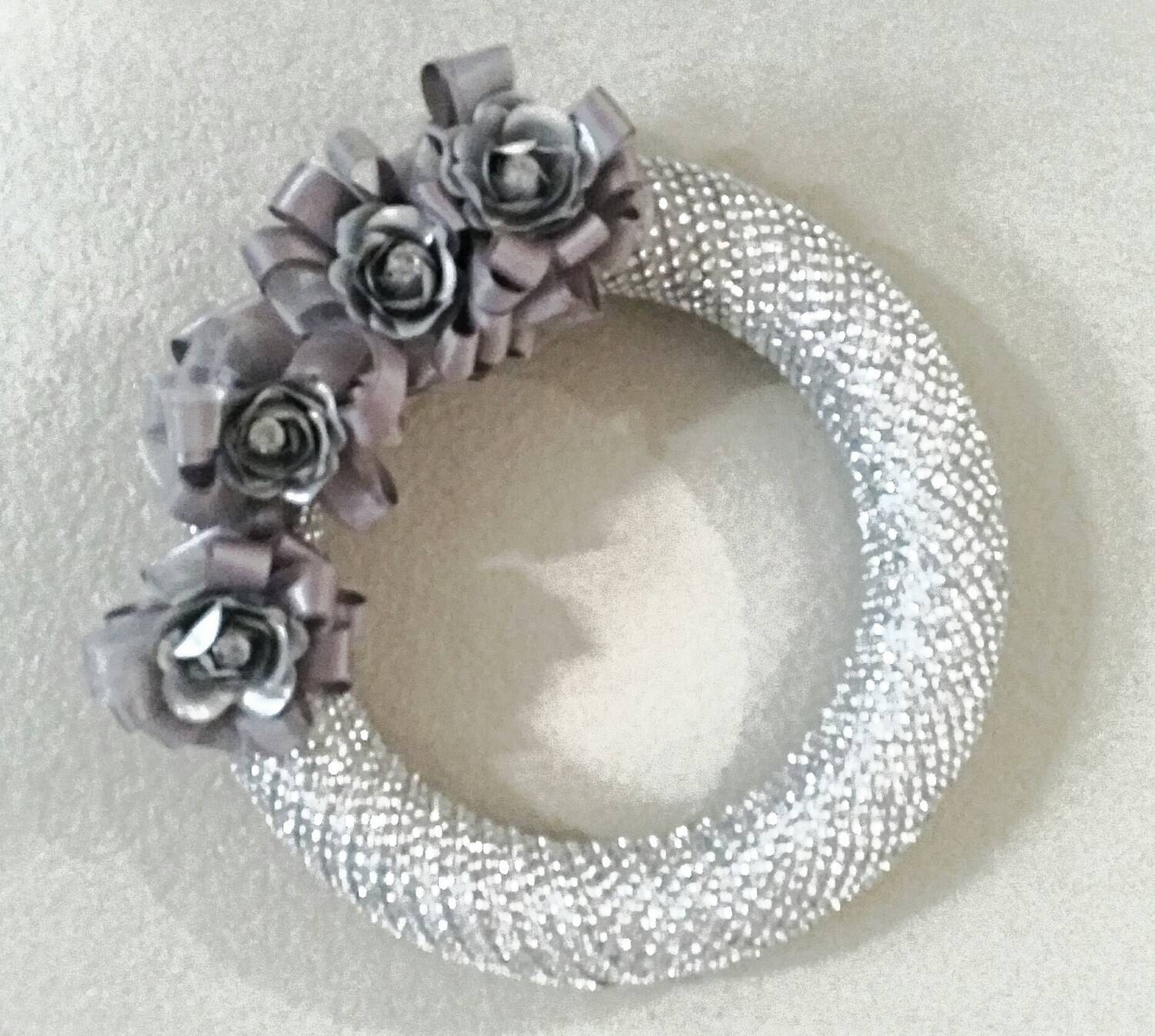 Floral Bling Wreath