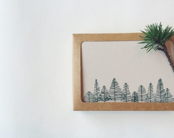 Box of 6 Letterpress Trees Cards