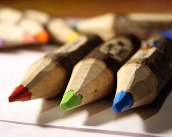Wax colored pencil keychain-customizable/Portachiavi matitone con closure a cera-personalizzabile