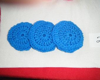 3 Piece Heavy duty Scrubbies Set, Handmade