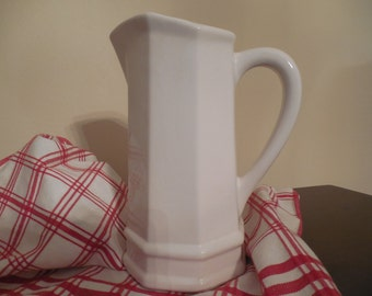 Vintage Cream Color Pitcher with Handle