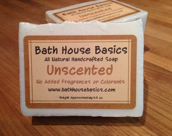 Unscented Soap with Shea Butter