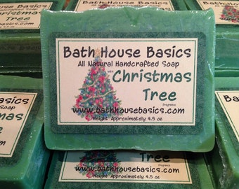 Christmas Tree Handcrafted Soap