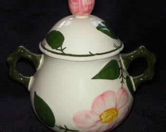 Vintage, Villeroy & Boch, 'Wild Rose' Ceramic Sugar Bowl, Collectable, W. Germany