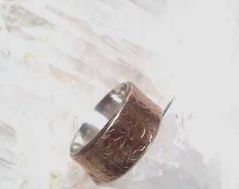 925 Silver, Bronze Doble Moderm Ring