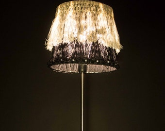 Black and white lace Lampshade