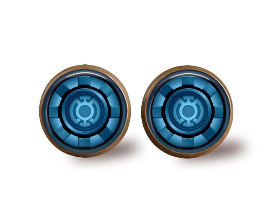 Iron Man Arc Reactor Ring Iron Man Arc Reactor Earrings