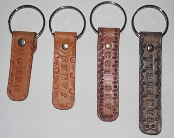 Personalized Leather Key ring  Gifts.