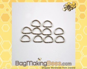 1/2 Inch Silver D-Ring [Pack Of 10]