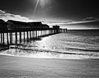 Southwold Pier  black and white