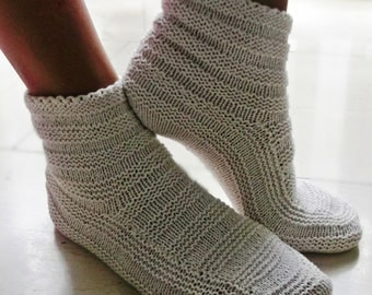 Amazingly comfortable booties! Great for wearing around the home or sleeping, cozy enough to wear all day/night long.