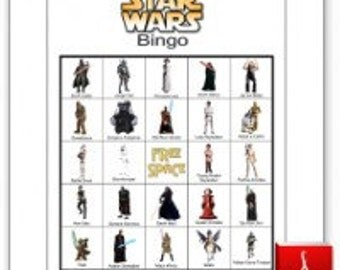 60 Printable Star Wars Bingo Cards