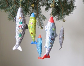 Fish Ornament - Sparkly Sequins