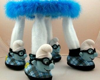 Footstool, Small Footstool, Children's Footstool, Smurfs, Children's Furniture, Handmade, Baby Gift,  Children's Gift, Nursery Decor