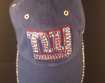 NY Giants blinged hat
