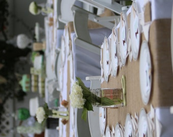 Burlap Table Runners for Round and Rectangle banquet tables