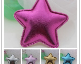 Glitter star applique Paded applique, kawaii decoden ,fabric applique, hairband accessory