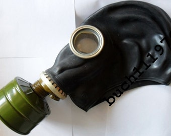 WW2 RUBBER Gas mask Respirator GP-5 russian black soviet military  new, size 0,1,2,3,4