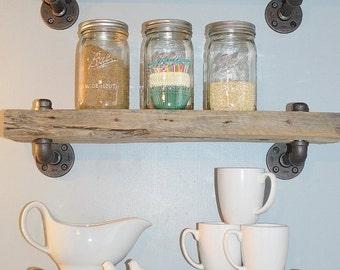 Single Reclaimed Barn Wood Shelf