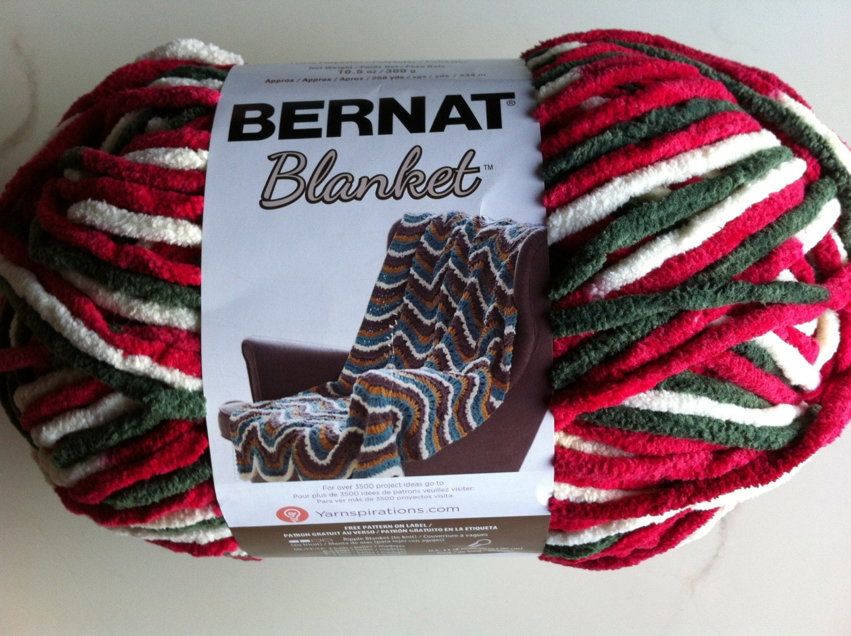 Holiday ombre bernat blanket yarn color 10002 by dcoyshouseofyarn
