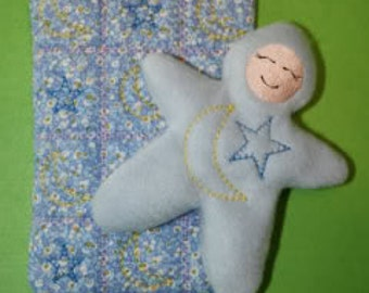 Super Sale Price!!!   Moon and Star Bedtime Baby and Quilt Embroidery Machine Designs for the 5x7 hoop
