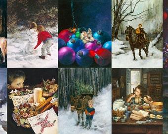 Christmas Card, Assortment, Holiday Card Assortment, Greeted Christmas Cards, Assortment of Cards