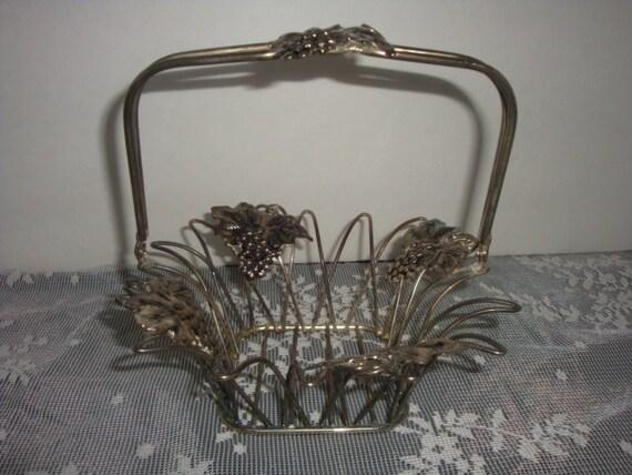 Godinger Silver Art Co Basket : Vintage godinger silver art co bowl flower fruit cottage