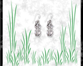 Bass Player Sterling Silver Earrings - Free Shipping
