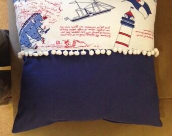 Clearance sale,Linen pillow-navy blue pillow-THROW PİLLOW-living room pillow - decorative pillow-Filling pillow-sofa pillowv