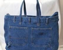 Repurposed Denim Bag with multiple pockets