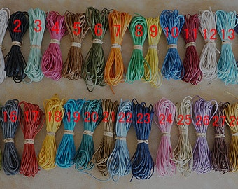 29 color 1 mm wax rope,