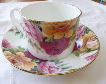 English bone china coffee cup and saucer