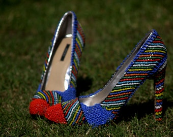 Hand Beaded Pumps size 40