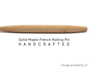 French Tapered Rolling Pin - Hand Turned
