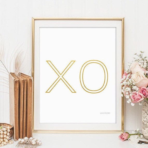 Wall Art Prints Download : Xo prints digital download wall art by
