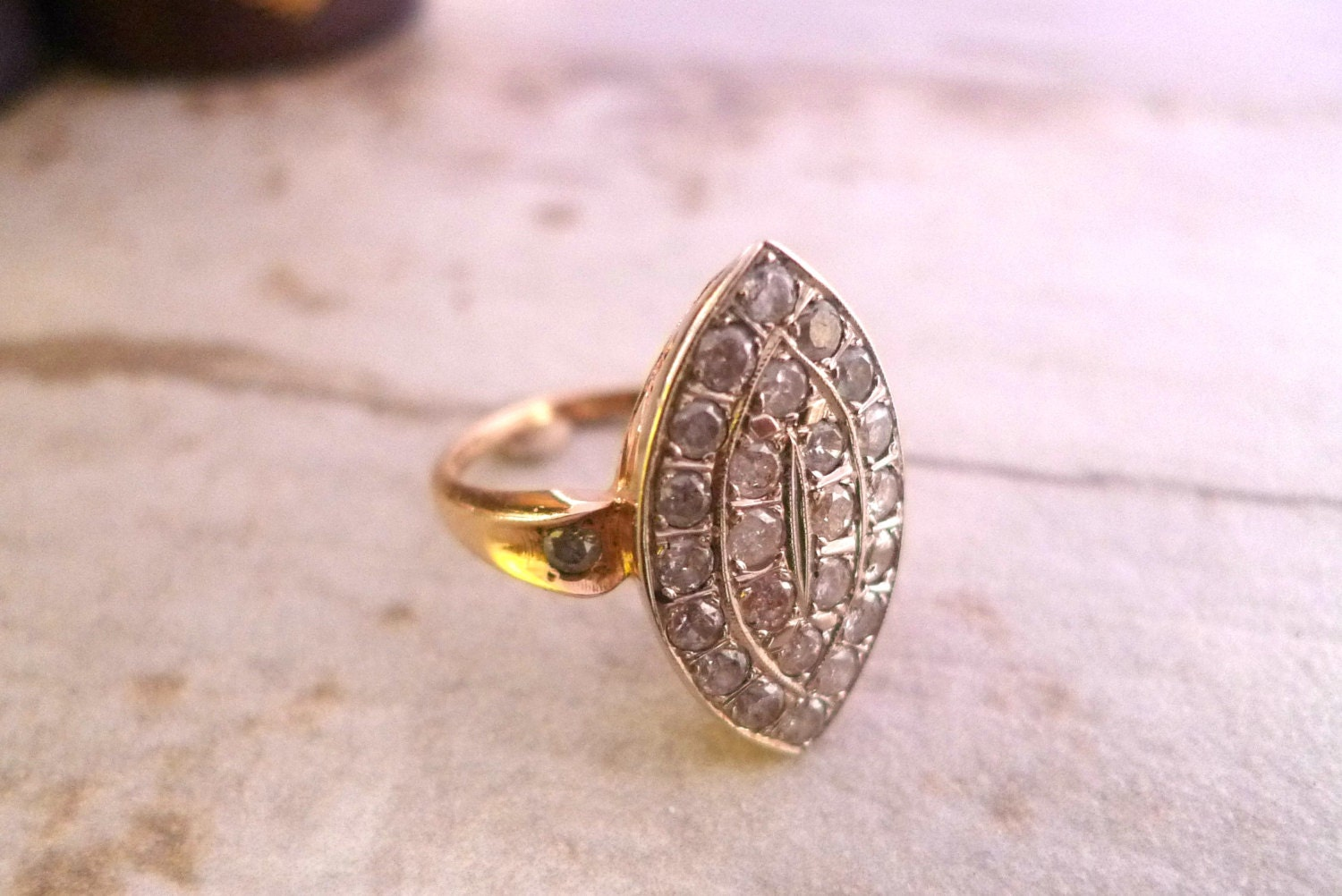 vintage marquise ring statement ring cocktail ring