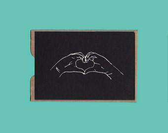 HEART card with envelope