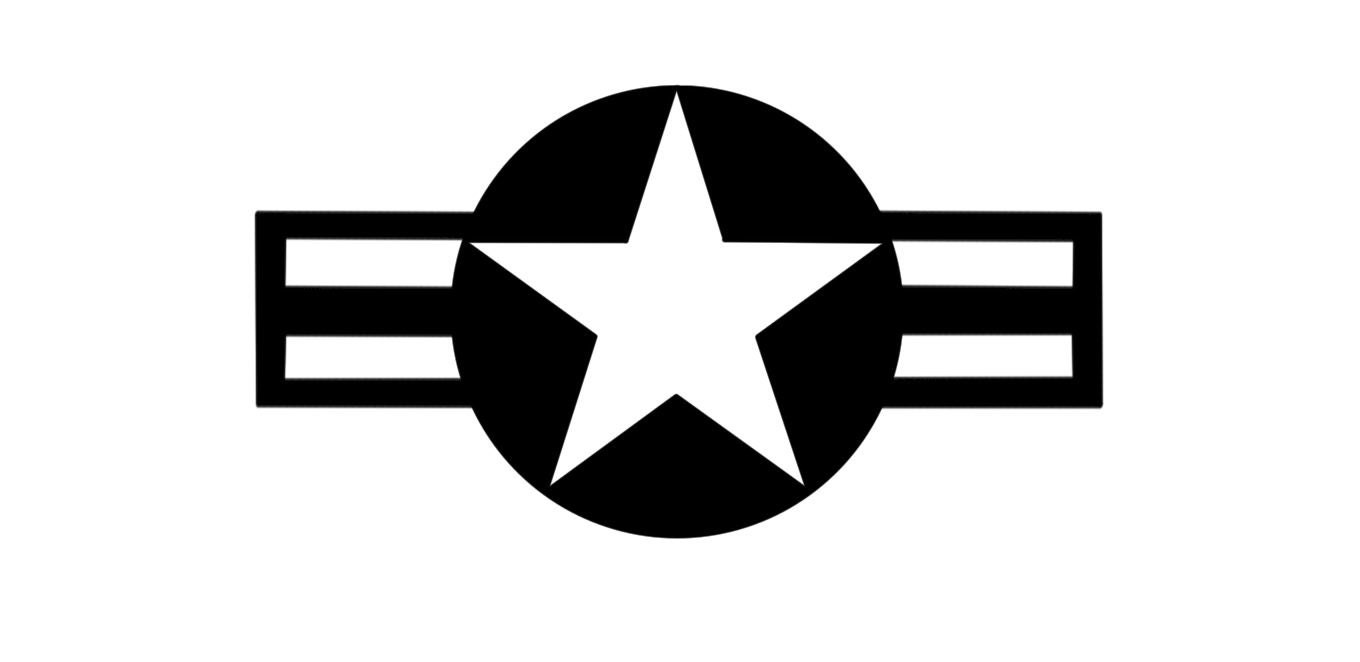 airforce star vinyl vehicle jeep decal wwi ww2 by