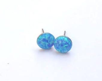 stud earrings,opal earrings, opal post earrings, silver stud earrings, tiny opal earrings, dot earrings,Gift for her,minimalist earrings