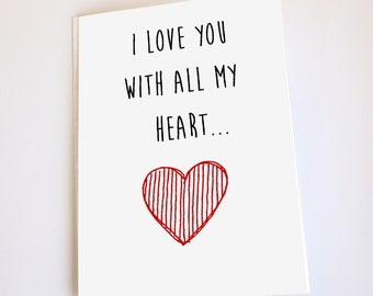 Funny greeting card, Valentine's Day, Anniversary, Birthday, Naughty