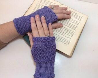 handwarmers,wristlets,fingerless gloves,Knitted, handmade.Techie handwarmers