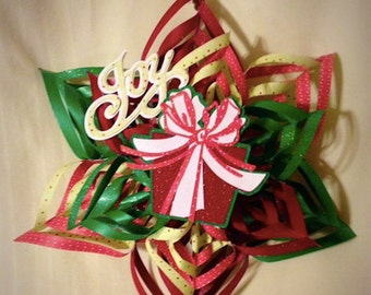 Paper Spiral Snowflake Christmas Decoration