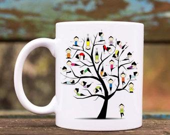 Yoga Moves Ceramic Coffee Mug