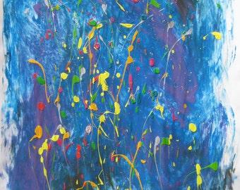 Joy - acrylic painting on paper