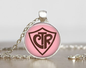 CTR, Choose The Right, Primary, Gift, LDS, Comes as a necklace, keychain or zipper pull