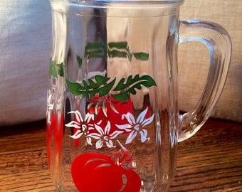 Vintage juice pitcher - quart size - tomato pattern