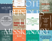 """LDS Missionary QuoteBundle! Twelve 4""""x6"""" quotes for LDS Missionaries to uplift and inspire. Digital Download!"""
