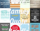 """Dave Ramsey QuoteBundle! Twelve 4""""x6"""" quotes budgeting and finance by Dave Ramsey. Digital Download!"""