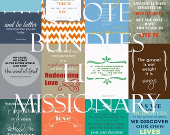 "LDS Missionary QuoteBundle! Twelve 4""x6"" quotes for LDS Missionaries to uplift and inspire. Digital Download!"