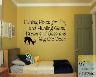 Big Bass & Big Deer Vinyl Wall Art Decal